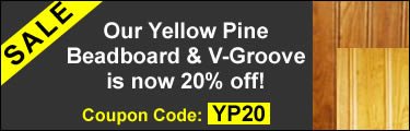 Sale Banner - Yellow Pine Beadboard
