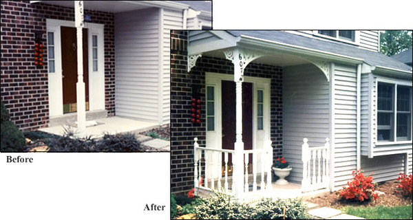 Before & After Porch 105