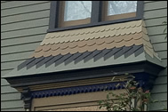 Shingles on Window Hood